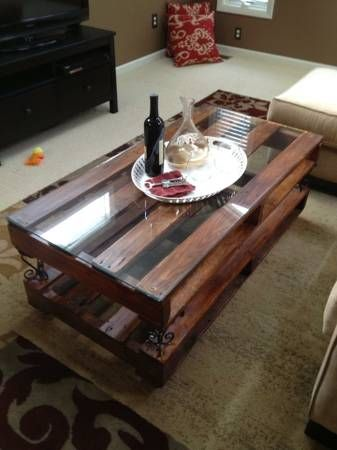 simple table, stained with glass top