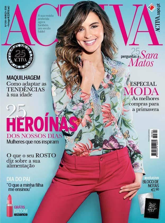 Beauty Mags: Sara Matos | Activa Portugal Março 2016