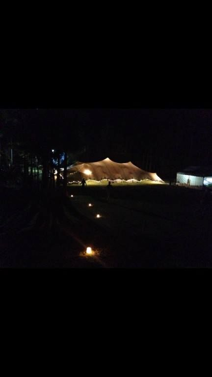 Stretch Marquee Wedding Gold Coast with our lighting package. 200m2