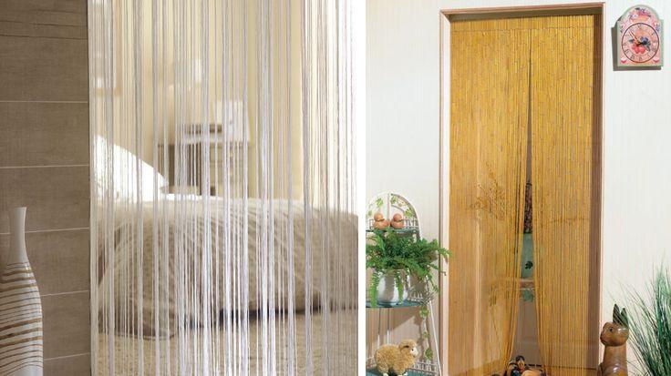 Les 25 meilleures id es de la cat gorie rideau de porte - Rideau de porte en perles transparentes ...