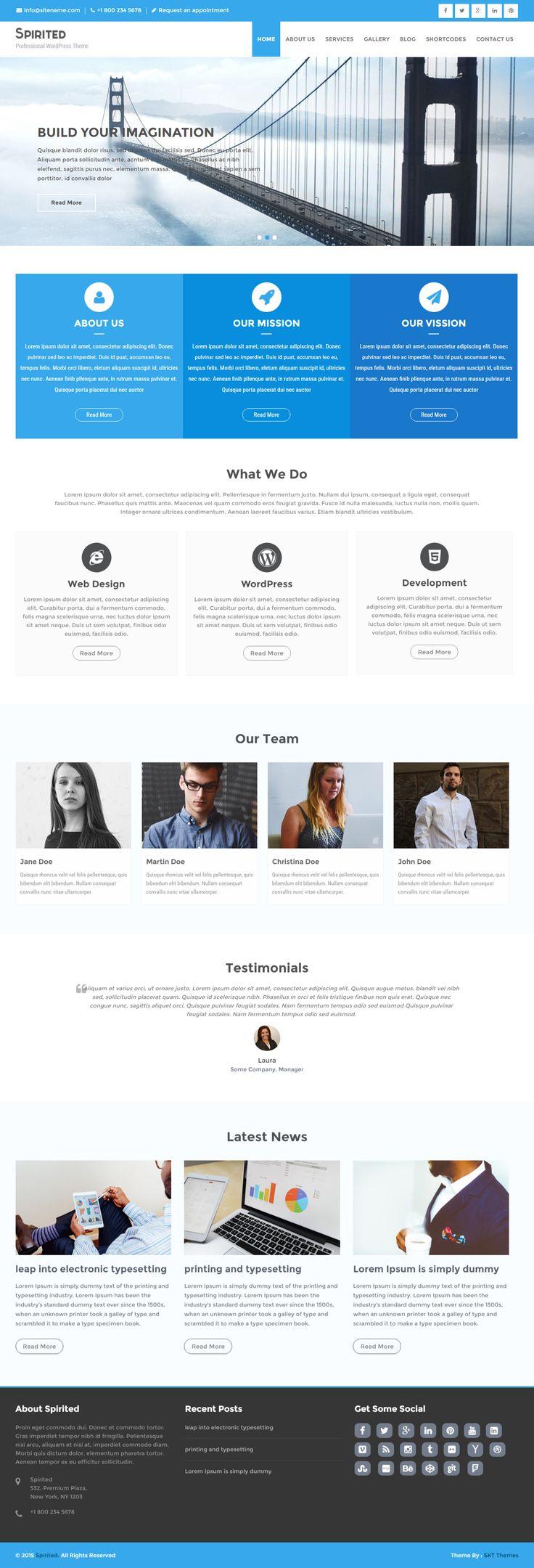 Free Landing Page WordPress Theme for Landing Page Sites