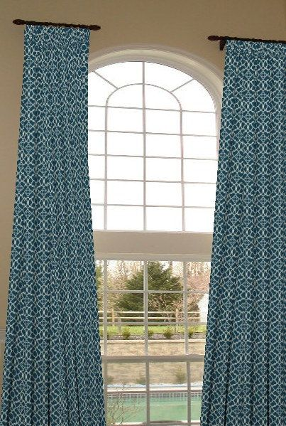 2 Story Extra Long Drapes 204 Inches Long Custom By