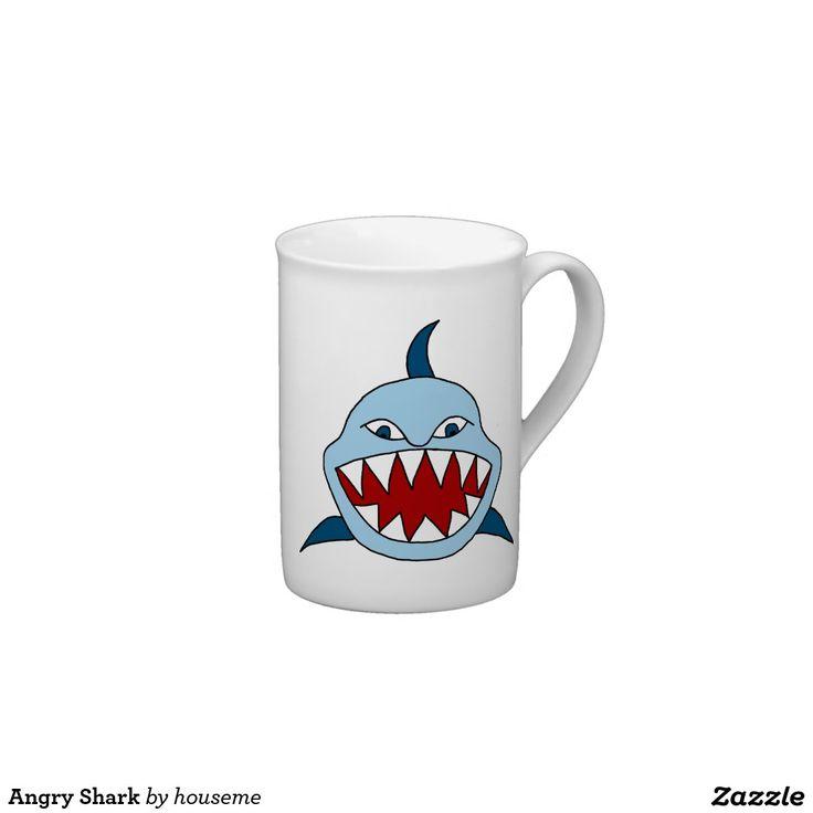 Angry Shark Tea Cup