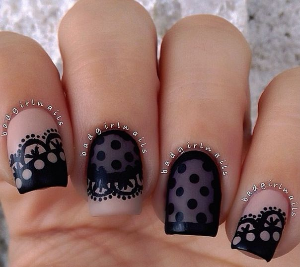 Sheer nails and sexy nails