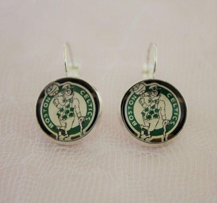Boston Celtics Earrings made from Basketball Trading Cards Upcycled #Handmade…