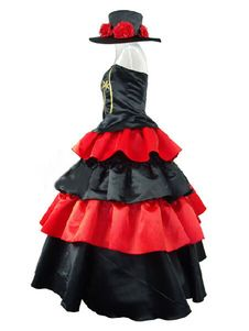 One Piece Perona Halloween Cosplay Costume Gothic Lolita Dress