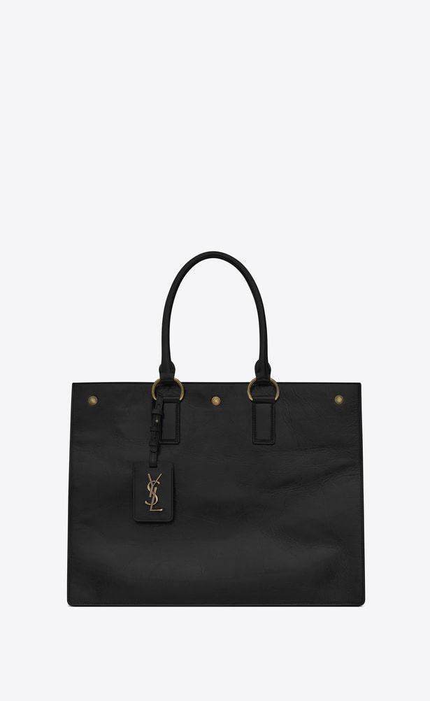 d4870922a3e4 SAINT LAURENT Noe Woman NOE SAINT LAURENT cabas bag in black moroder leather  a V4