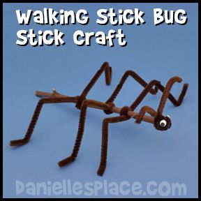 Walking Stick Craft from www.daniellesplace.com