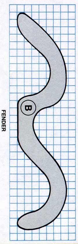 """Old-Fashioned Toy Car A Corpo (1)3/4 x 2""""3 / 4 x 7""""1 / 2 BPára-lamas (2)3/4 x 1""""3 / 4 x 7""""1 / 2 CRodas (4 ou 5)diâmetro de 1""""1 / 2 DEixo Pegs (4 ou 5)1/4 de diâmetro"""