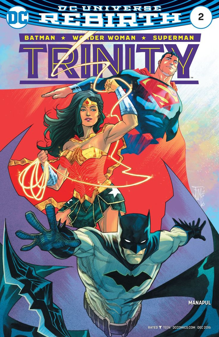 Trinity (2016) 2 Superhero art, Dc comics art, Dc trinity