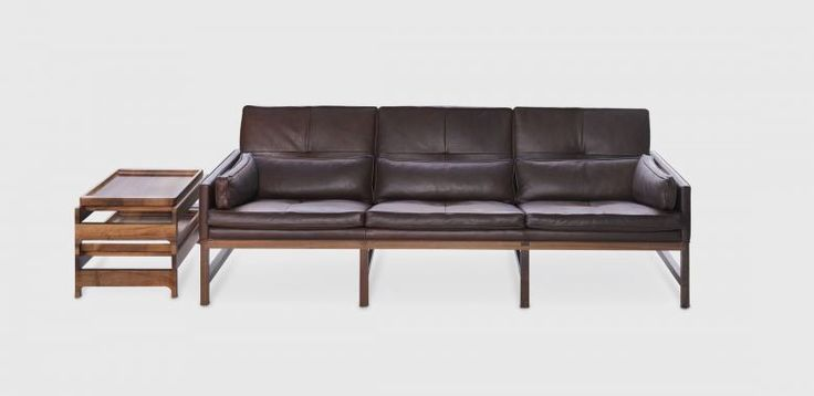 3 seater leather - Living Edge