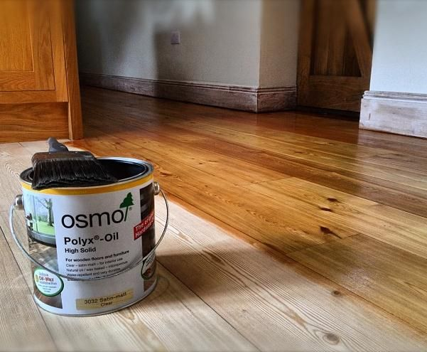 Polyx Oil Original (3032 Satin-matt) on Pine flooring  http://www.wood-finishes-direct.com/product/osmo-polyx-oil?sid=1&q=poly
