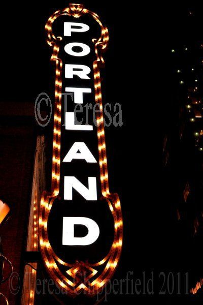 PORTLAND SIGN ABOUT THIS IMAGE; This is a photograph of the PORTLAND SIGN on the Arlene Schnitzer Concert Hall in Downtown Portland, Oregon, a beautiful Landmark :) Images shot by me (Teresa Chipperfield - Photographer/Artist :) T.  This Photo is a 4 x 6 format or larger (use drop down menu to order) printed on quality archival paper in a Lustre finish. (Unless other finish is requested)  #### IF YOU WOULD LIKE TO BUY THIS IMAGE ON A CANVAS LOOK HERE; https://www.etsy.com/...