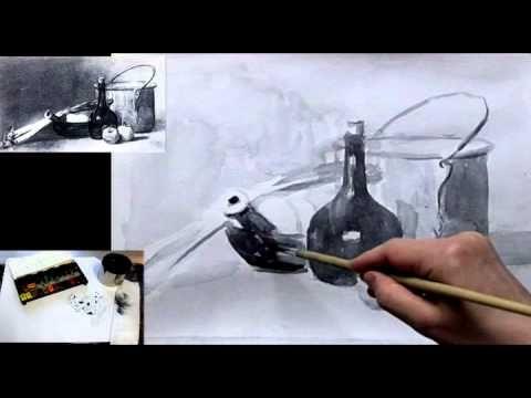 рисуем натюрморт акварелью