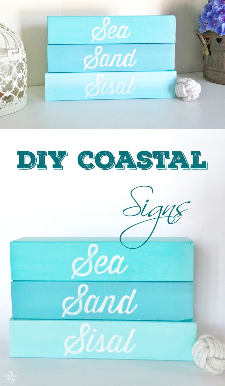 How to make your own DIY coastal signs out of some scrap wood and paint
