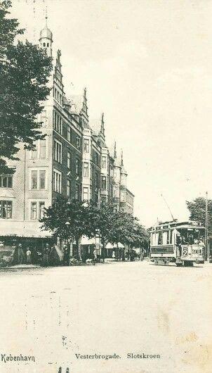 Slotskroen på Vesterbrogade ca 1908
