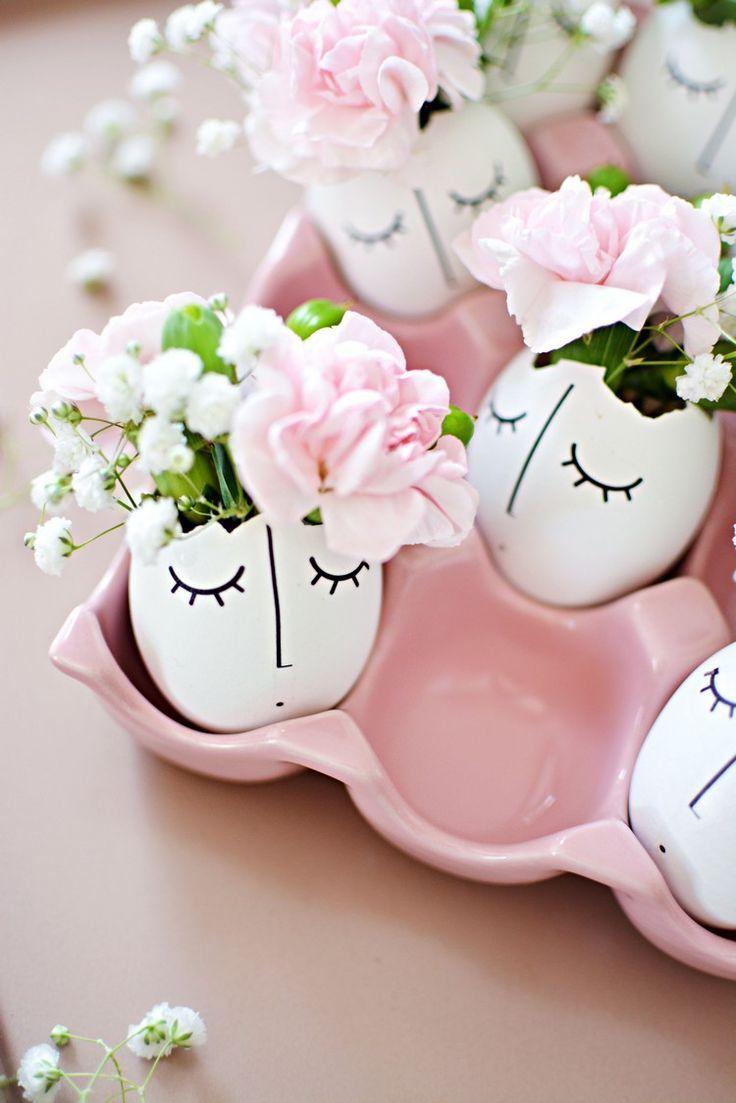 frühlingsdeko-basteln-eierschalen-dekorieren-blum…