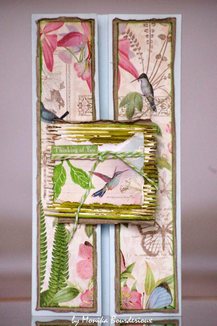 Botanical Mixed Media Card