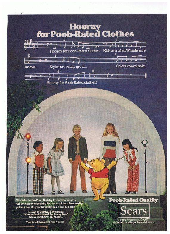 1977 Winnie the Pooh Sears Clothing by TreasureTimeCapsule on Etsy