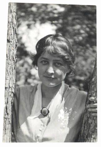 Georgia O'Keeffe at University of Virginia c. 1912 - 1914.