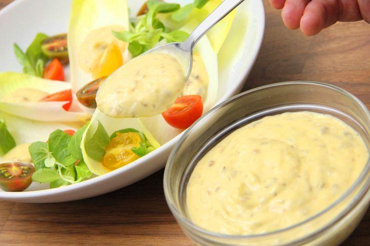Caesar salátaöntet recept