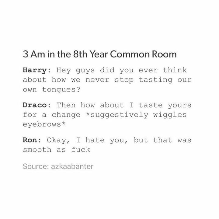 Drarry (8th year? Maybe redoing year 7? Though Ron and Harry never went back. Hermione did.)