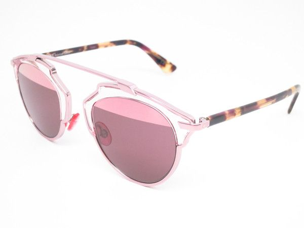 Dior So Real KM98R Light Pink SoReal Womens Mirrored Sunglasses - Add this one to your Wishlist! - Free United States S&H - Lowest Prices on Name Brand Fashion Eyewear Online