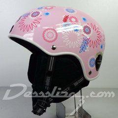 Casco snow Nutcase Classic Helmet Pink Spirals