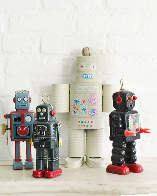 """""""Program"""" that creativity and take over the imaginary world with this cool DIY robot craft from """"Sweet Paul""""!"""