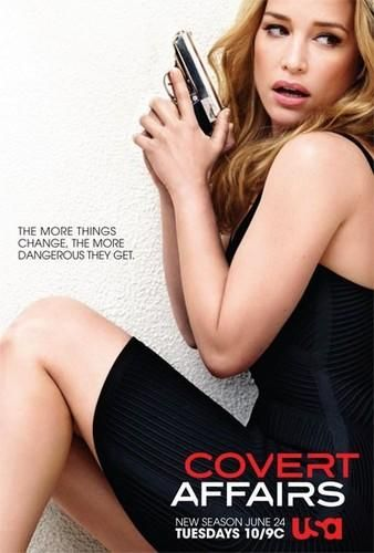 Covert Affairs (USA-June 24, 2014) TV Series - Season 5 at 10pm/EST. Action-packed series returns with globetrotting, detonating bombs, and some fun in the sun. Stars: Piper Perabo (Annie Walker), new cast actor Nic Bishop, as Ryan McQuaid, a Navy SEAL turned private military contractor billionaire. Amy Jo Johnson, as Hayley an investigator with the NCTC, Nazneen Contractor, as a love-interest (Sydney) for Hill Harper (Agent Caldor), Perrey Reeves as Caitlyn, the COO of McQuaid Security.