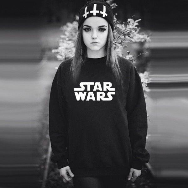 Black Star Wars Sweatshirt - free shipping worldwide