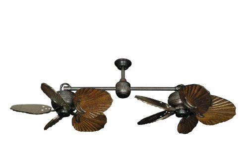Twin-Star-II-Double-Ceiling-Fan-in-Oil-Rubbed-Bronze-with-35-Series-600-Arbor-Blades-in-Dark-Walnut-0