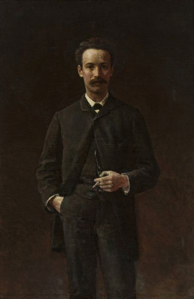Portret Artura Gruszeckiego - Aleksander Gierymski