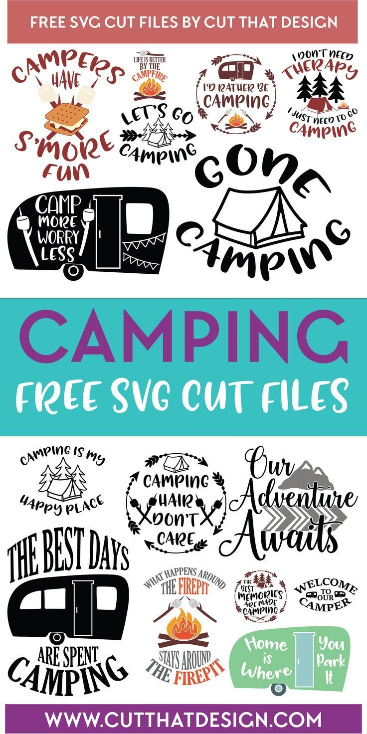 camping SVG files Cricut projects vinyl