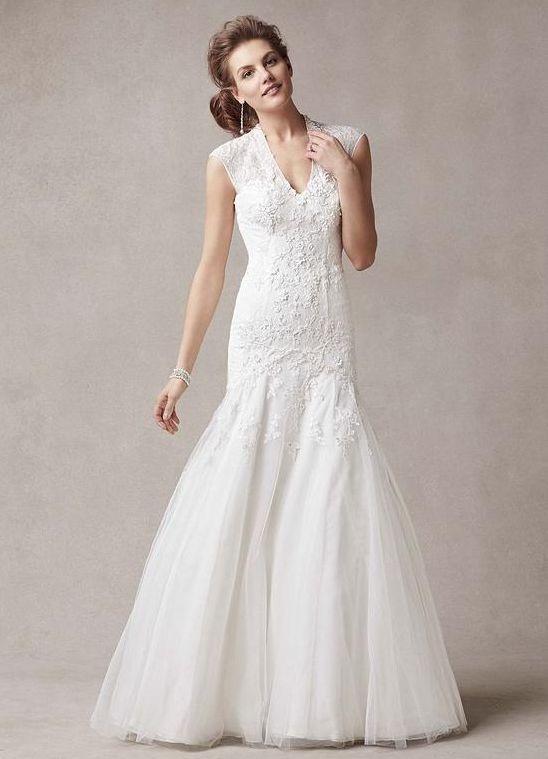 melissa sweet wedding dress pre owned cap sleeve v neck trumpet lace designer wedding