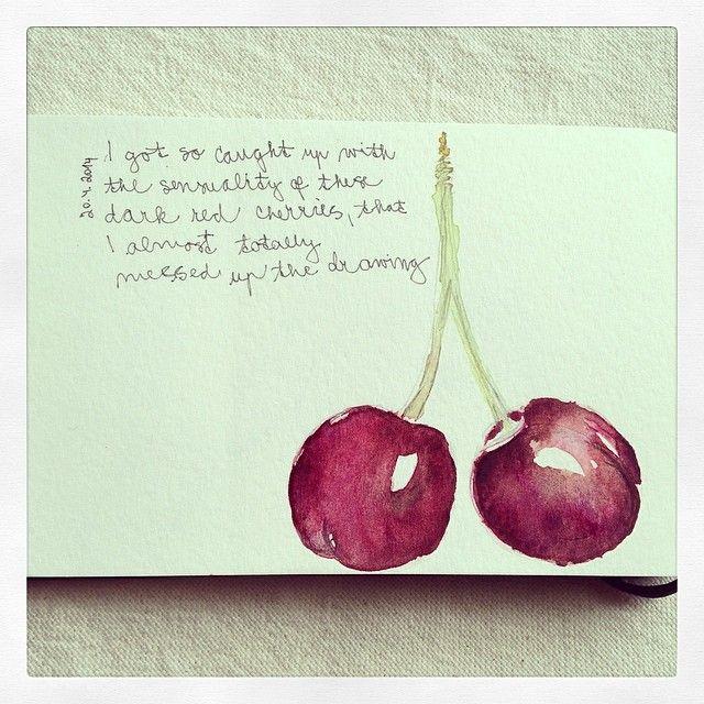 visual diary, cherries