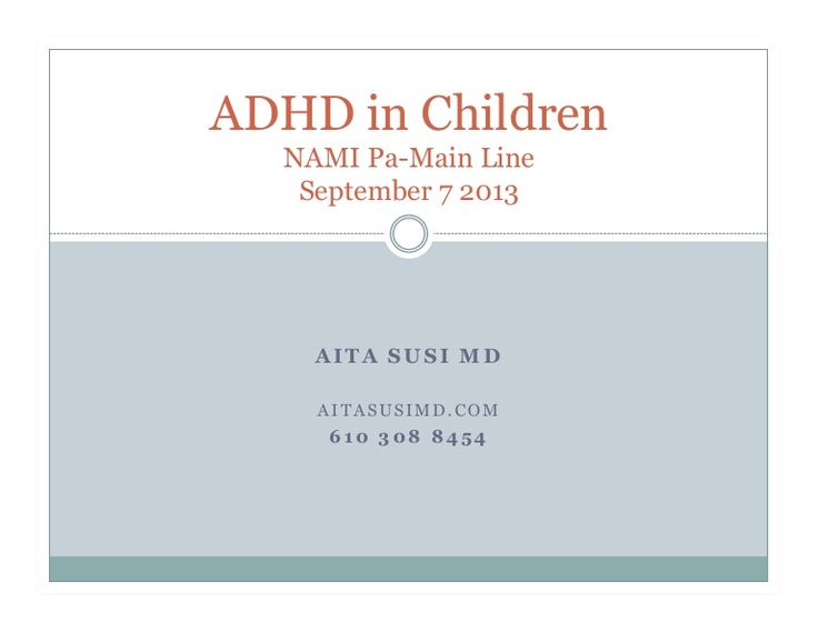 This issue of #ADHD in Children is among the most frequent question we get asked in our programs at #NAMI PA Main Line. Please see and widely distribute this deck from one of our recent Forums.