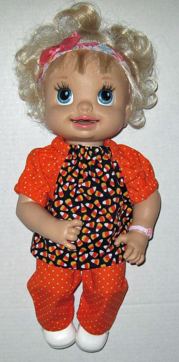 Baby Alive Candy Corn Fall Halloween Set Fits 15 Inch Doll