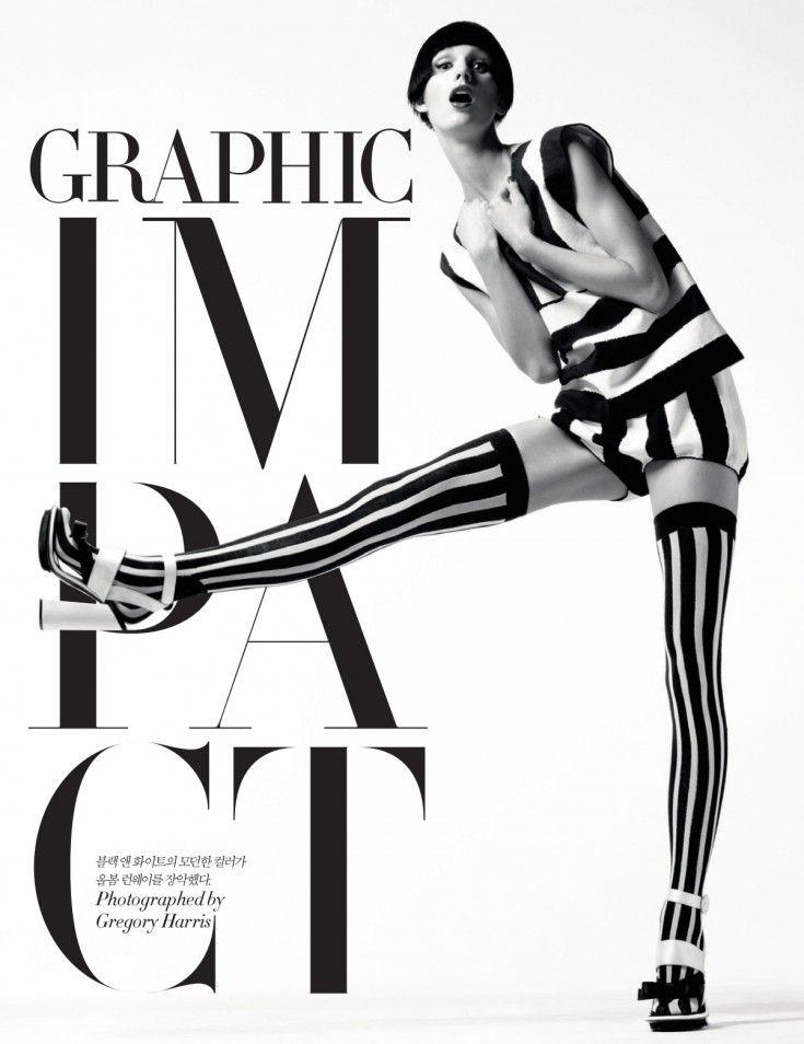 Marte Mei Van Haaster by Gregory Harris (Graphic Impact - Harper's Bazaar Korea April 2013) 1