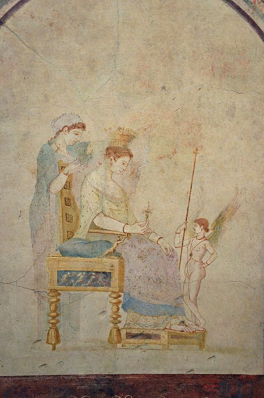 Fresco from the villa of Marcus Vipsanius Agrippa at Trastevere, after 29 BC, Palazzo Massimo alle Terme, Rome | Flickr - Photo Sharing!