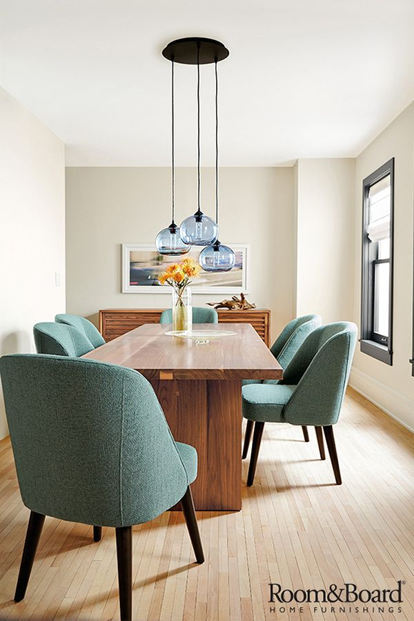 The comfort of upholstered dining chairs makes it easy to linger longer around the dinner table with friends and family.