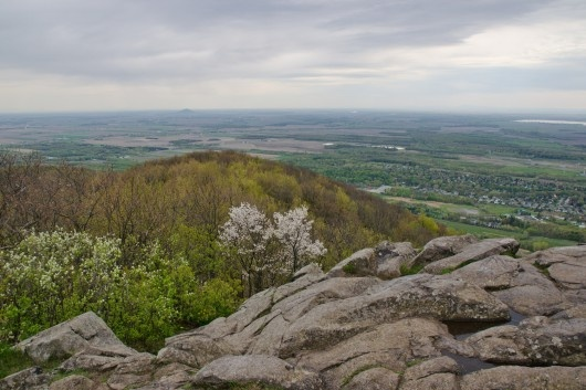 On Mont St-Hilaire. From the Pain de Sucre summit.