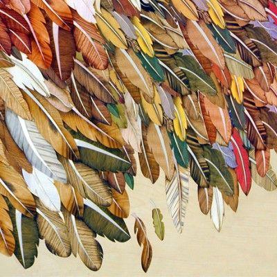 Aryma - marquetry feathers. Astonishing