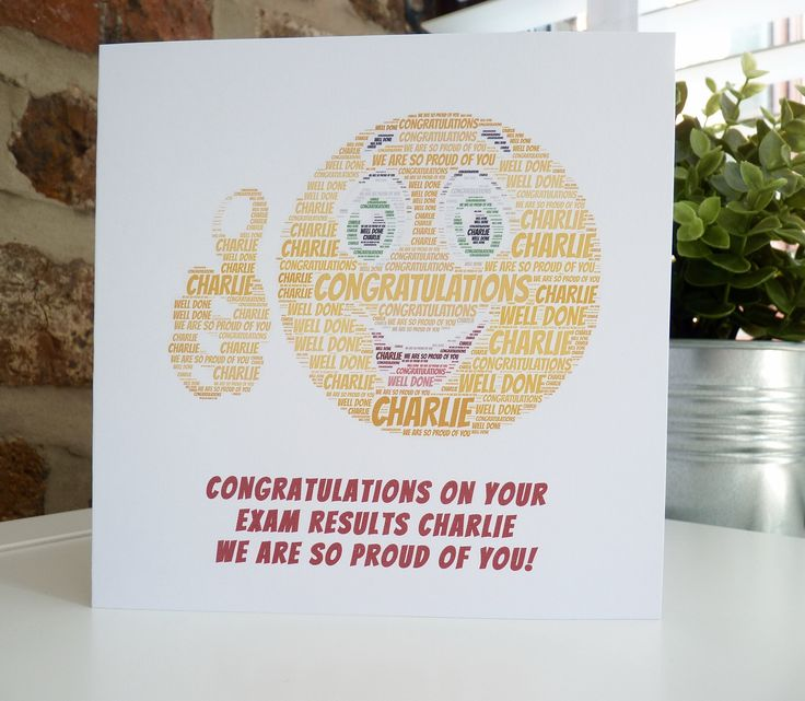 Personalised Exam Congratulations Card, Personalised Card, Congratulations on your Exam Results, Exam Success Card, Congratulations Card by ConnorCardsandGifts on Etsy https://www.etsy.com/uk/listing/533391108/personalised-exam-congratulations-card