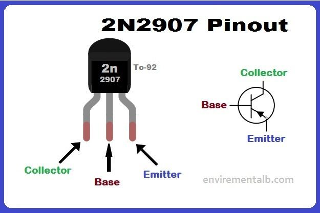Transistor 2n2907 Pinout Features Applications Transistors Electronic Circuit Projects Circuit
