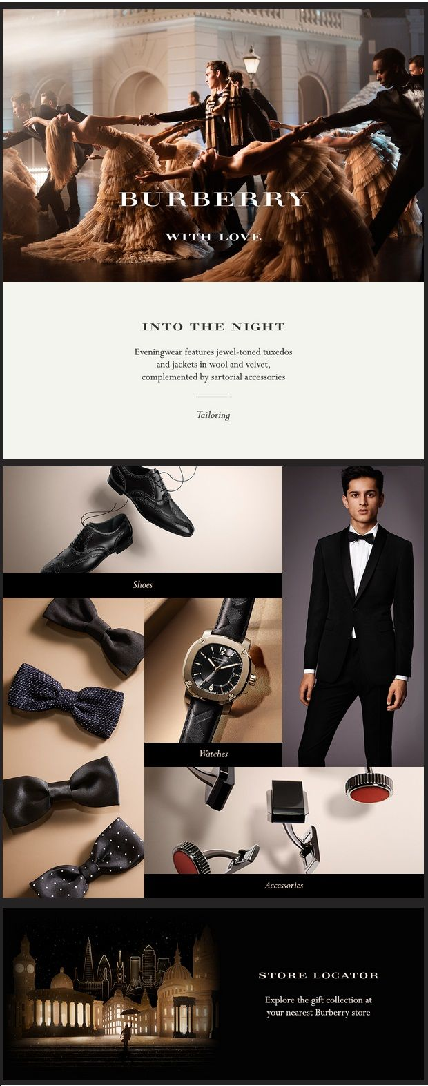 A superclassy email by Burberry with great product display and a great banner image. This exemplary email design adheres to the brand guidelines in every way. More Email Design Inspirations on: http://bit.ly/1my1bEv