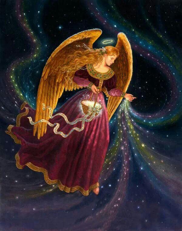 Épinglé par Nathalie sur Anges   Peintures d'ange, Anges et archanges, Les arts