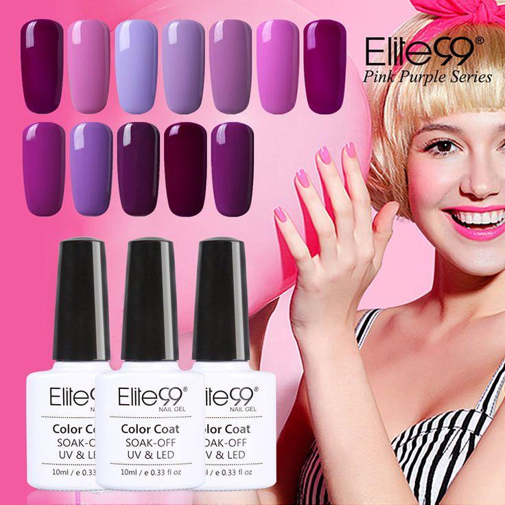 Elite99 10ml Gel Polish Pink Purple UV Colored Nail Polish Gel Varnish Long-lasting Soak Off Gel Lacquer Nail Polish
