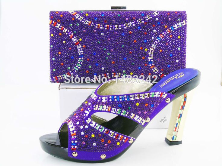 Free Shipping!New arrival fashion nice matching lady shoe and bag set size 37 to 43 for retail and wholesale stone  shoes