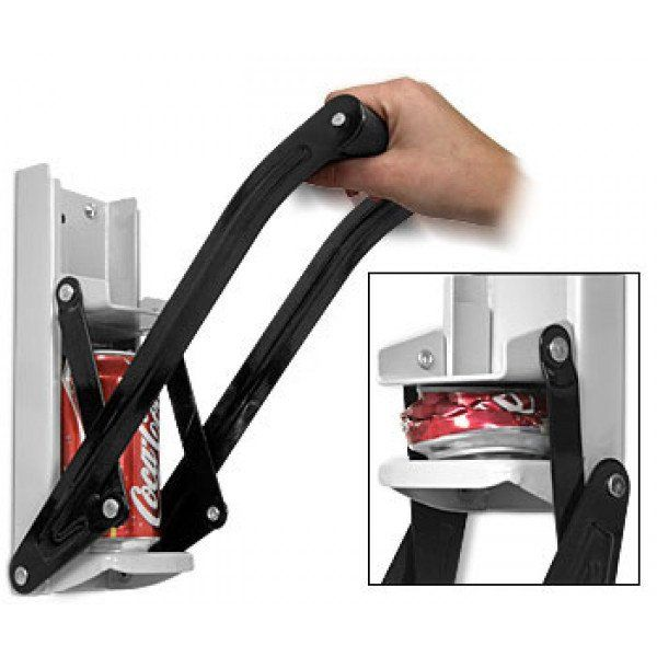 CAN CRUSHER WITH BOTTLE OPENER